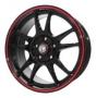 Replica 824 Multi - Общие характеристики  Тип : литые Материал : алюминиевый сплав Цвет : черный+красный  серебристый